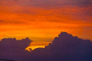 Sunset towards Farjado